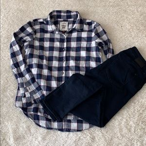 Tops - Light flannel button up